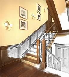 treppenhaus tapezieren ideen flur renovieren