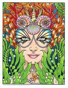 single coloring page siren from the magical collection download print color