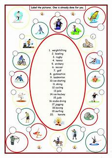 sports label the pictures worksheet free esl printable worksheets made by teachers