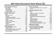 chilton car manuals free download 2004 buick park avenue transmission control buick park avenue 2004 owner s manual pdf online download