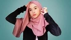 Tutorial Simple Pashmina Monocrom Ragam Muslim