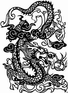 Ausmalbilder Japanische Drachen Japanischer Drache Ausmalbild Malvorlage Blumen