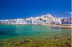 parois de naoussa town paros island cyclades aegean greece stock