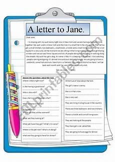 letter comprehension worksheets 23049 reading comprehension a letter to esl worksheet by montseteacher