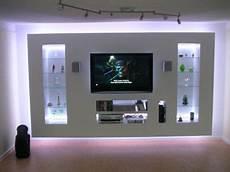 Tv Wand Rigips - indirekte beleuchtung mit rgb wohnwand selber