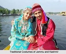 couple kashmiri traditional costumes