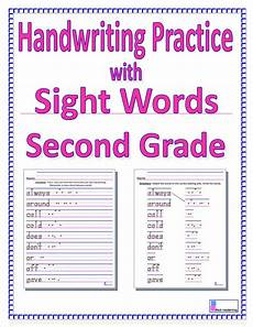 free printable handwriting worksheets for second grade 21815 2nd grade sight words handwriting practice with second grade sight words blessedphyl