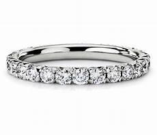 french pav 233 diamond eternity ring in 14k white gold 1 ct