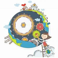 Walt Pemeliharaan Bumi Ilustrasi Kartun Vektor Vektor