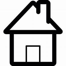 icon haus home interface symbol eines hauses der