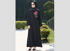Abaya Dress Embroidery Flower Maxi Burka Muslim Women