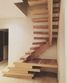 bel escalier d architecte en bois massif et tr 232 s original