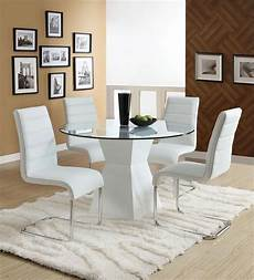 fresh white based dining 45 quot lynelle white glass top dining table with white base