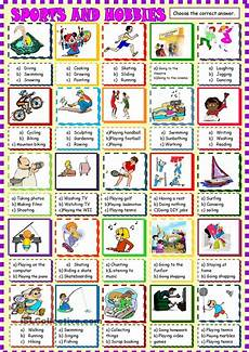sport worksheets intermediate 15809 sports and hobbies choice activities lessons hobbies