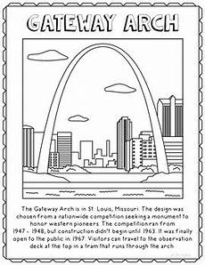 gateway arch informational text coloring page craft or poster tpt