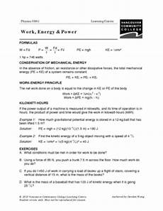physical science worksheet work and power 13210 vcc lc worksheets physics physics 0861 0871