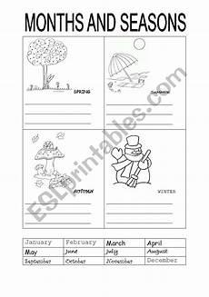 months and seasons activities worksheets 14767 months and seasons esl worksheet by carotte