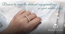 why you should wear the diamond engagement ring your middle finger diamonds inc