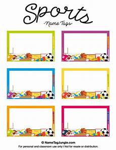 Free Printable Sports Name Tags The Template Can Also Be