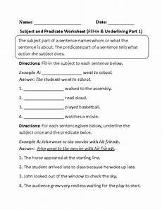 englishlinx com subject and predicate worksheets subject predicate nouns worksheet
