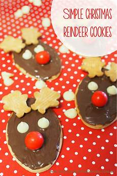 how to make easy reindeer biscuits with tiny teddies