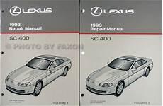 free auto repair manuals 1993 lexus sc engine control 1993 lexus sc 400 repair shop manual original 2 volume set