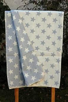 Fussenegger Decke Silvretta Sterne Grau Natur