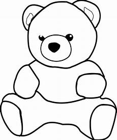 Teddy Clipart Black And White
