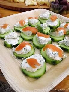 häppchen rezepte einfach schnell gesunde ap 233 ro rezepte gurken mit frischk 228 se dill dip und