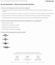 Quiz Worksheet Electrical Schematic Symbols Study