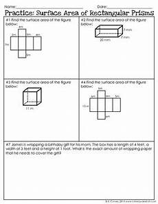 surface area of rectangular prisms notes teacher pay teachers the o jays and note