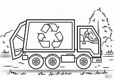 recycling truck coloring page free printable coloring pages