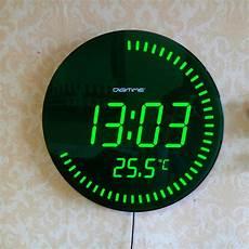 digital wall clock light modern design large jumbo digital home decor light led wall clock watch ebay