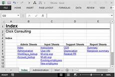 create an index worksheet using excel hyperlinks excel university