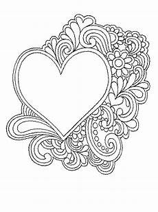 coloring pages of hearts and flowers activity shelter