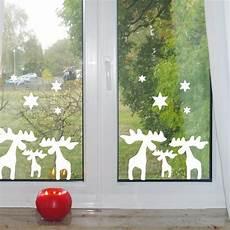 Elche Wandtattoos Weihnachten Fensteraufkleber