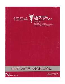 car manuals free online 1994 pontiac grand am spare parts catalogs 1994 pontiac grand am factory service manual 2 volume set
