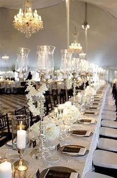 elegant black and white wedding table settings wedding