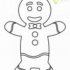 Ausmalbilder Weihnachten Lebkuchenmann Winter Kostenlose Malvorlagen
