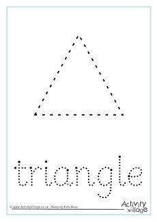 triangle word tracing