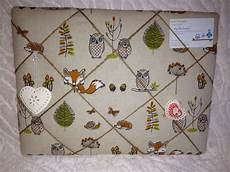 Animal Memo Board woodland creatures padded notice board pin board memo
