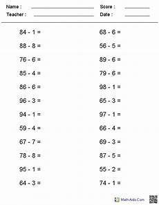addition worksheets horizontal format 8880 no regrouping horizontal format subtraction worksheets subtraction worksheets math