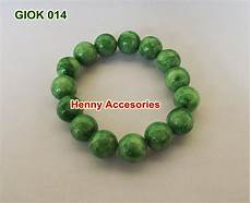 gelang batu giok hijau muda 014 rp 75 000 henny accesories