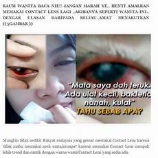 Yang Suka Pakai Contact Lens Baca Ni Jangan Amalkan