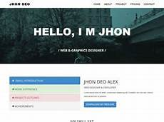 bs resumae free website template free css templates free css