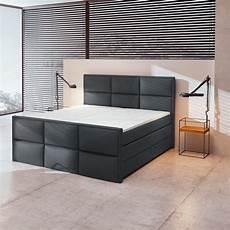 boxspringbett schwarz bettkasten h3 180x200 cm