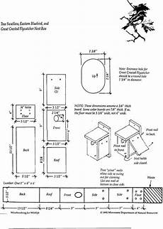 tree swallow house plans nest box diagram nrcs iowa