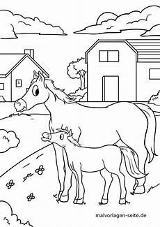 ausmalbilder hunde und pferde kinderbilder