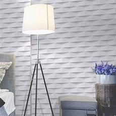 tapisserie à peindre papier peint intiss 233 3d origami blanc leroy merlin