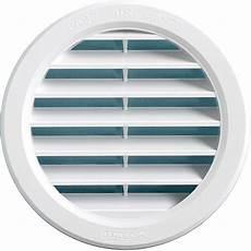 grille ventilation ronde 224 encastrer plastique blanc ext